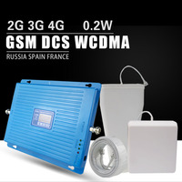 600m2 2 г 3g 4G Сотовая связь усилитель сигнала GSM 900 DCS LTE 1800 WCDMA 2100 мГц повторителя 70dB усиления 4G LTE 1800 антенный усилитель комплект