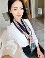 Высокое качество печатных шаблон Шелковый Шарф женщин Корейской стиль мода геометрическая сексуальная все матч четыре сезона носить дамы шарфы wj6