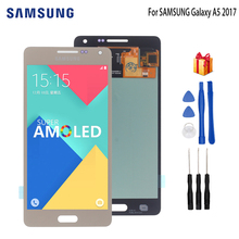 цена на AMOLED For SAMSUNG Galaxy A5 2015 LCD Display Touch Screen Digitizer For SAMSUNG Galaxy A5 A500FU A500 A500F A500M Screen LCD