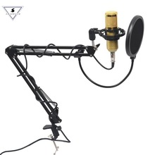 цена на Professional bm 800 Condenser Microphone Audio 3.5mm Wired BM800 Studio Vocal Recording KTV Karaoke Stand For Computer