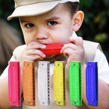 New Colorful 10 Holes Harmonica Musical Instrument Translucent Children Kid Baby Educational Toy For Birthday Gift Random Color