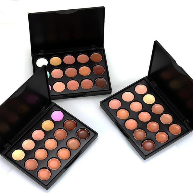 Poppink 10 cm x 8 cm x 1 cm Mini 15 colores cara corrector paleta camuflaje CREMA CONTORNO maquillaje profesional corretivo, maquiagem