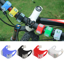Bike Bicycle Cycling Silicone Head Front Rear Tail Taillight Lamp Safety Flash Flashlight Light LED free shipping