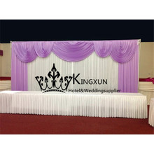 White and Lilac Wedding BackdropWedding DecorationWedding Curtain With Swags Free Shipping