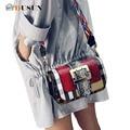 DUSUN роскошные женщины сумки дизайнер сумка почтальона сумочки Хит цвет Серпантин сумочка Повседневная сумка мода Небольшой площади пакет