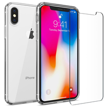 Screen Protector Tempered Glass For iPhone X Xs Max Xr 8 7 6 6 S Plus Ultra Thin Slim Transparent Toughened Glass Film Free Case стоимость