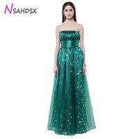 Strapless Dot Mesh Chiffon Ball Gown Empire Waist Evening Parties Dress New 2018 Women Sleeveless Plus Size Vestidos De Fiesta
