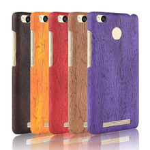 For Xiaomi Redmi 3S Case Hard PC+PU Leather Retro wood grain Phone Cover Luxury Wood for Redmi3S