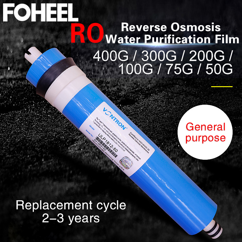 FOHEEL 50/75/100/200/300/400 GPD Reverse Osmosis RO Membrane For 5 Stage Water Filter Purifier Treatment Reverse Osmosis System