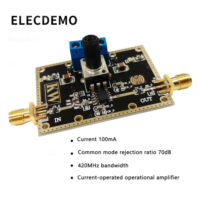 THS3001 Module Current Operational Amplifier 420MHz Bandwidth Common Mode Rejection Ratio 70dB Current 100mA Function demo Board-in Demo Board Accessories from Computer & Office