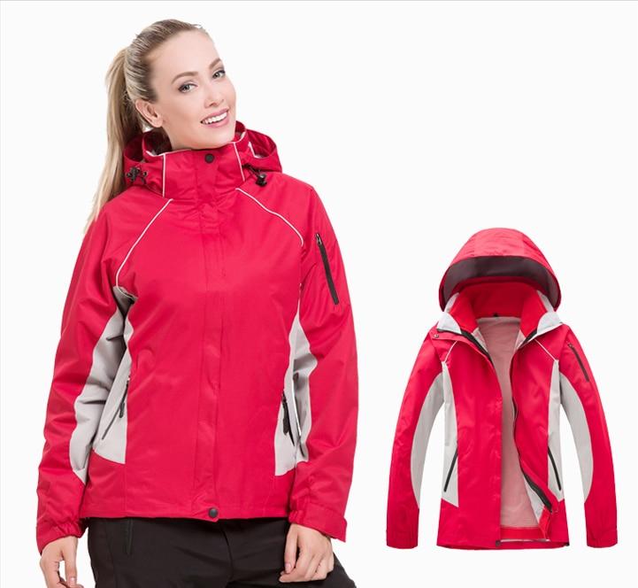 Women outdoor climbing soft shell 3 in 1 jacket women coat waterproof windproof fleece Camping & Hiking soft shell coat jacket