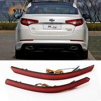 OKEEN 2PCS Car Styling For Kia K5 2011 2012 Red Lens Rear Bumper Reflector Light 12V