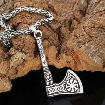 Norse Viking Celtic Amulet Knot Axe Pendant Necklace  Viking Necklace