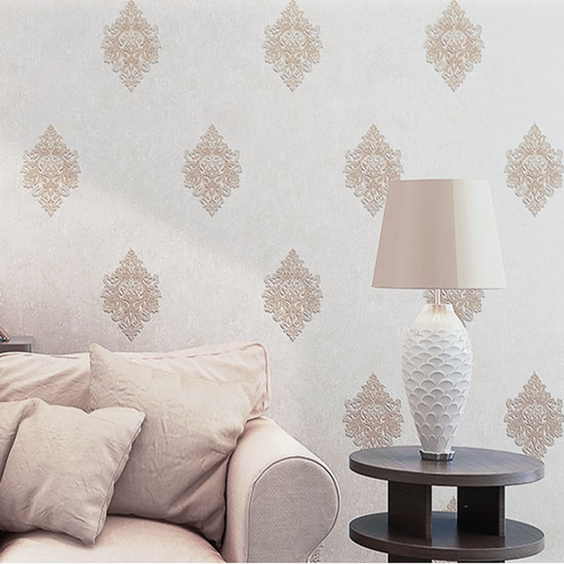 Luxury classic wall paper interior wallpaper wall damask - Wall covering ideas for living room ...
