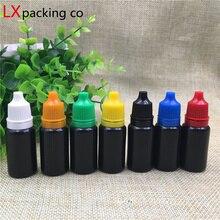 100 adet ücretsiz kargo 10 ml 0.35 oz siyah plastik boş damlama şişeleri özü parfüm sıvı boş kozmetik kapları