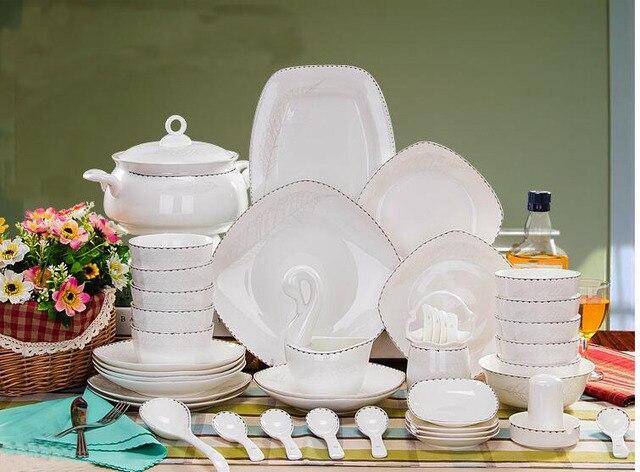 58 Stücke Fabrik Direkt Porzellan Geschirr, Begabt Königliche Porzellan  Geschirr Set, Keramik Geschirr Set