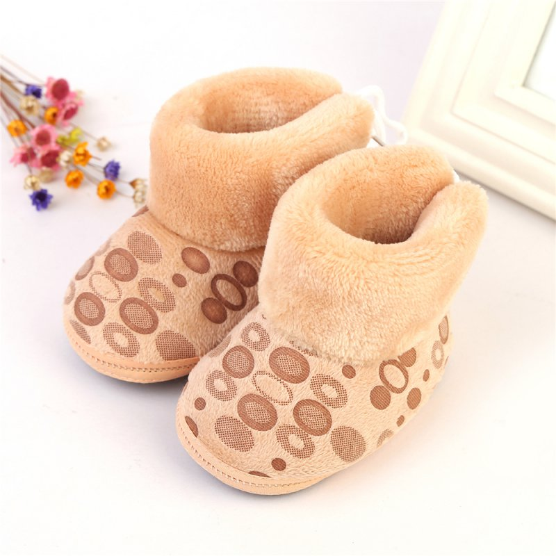 Lovely Children Boots Girls Boots Thick Warm Shoes Cotton-Padded Suede Boys Snow Boots One size 6-12M
