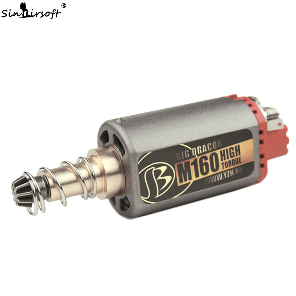 SINAIRSOFT Custom M160 High Twist Type High Speed Motor High Torque AEG Motor Long Axis for Airsoft M4/MP5 M16 G3 P90 BD1346 kaish black p90 high power sound neck