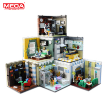 MEOA Living House Sets Home Furnishing Block Building With Duplo Bricks Lepin Technic Kids Toys Legoing yang Sederhana Untuk Kanak-kanak