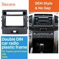 Seicane двойной Din автомобильный стерео радио фасции панель комплект для 2008 Toyota Land Cruiser 200 рамка Установка Dash surround DVD плеер
