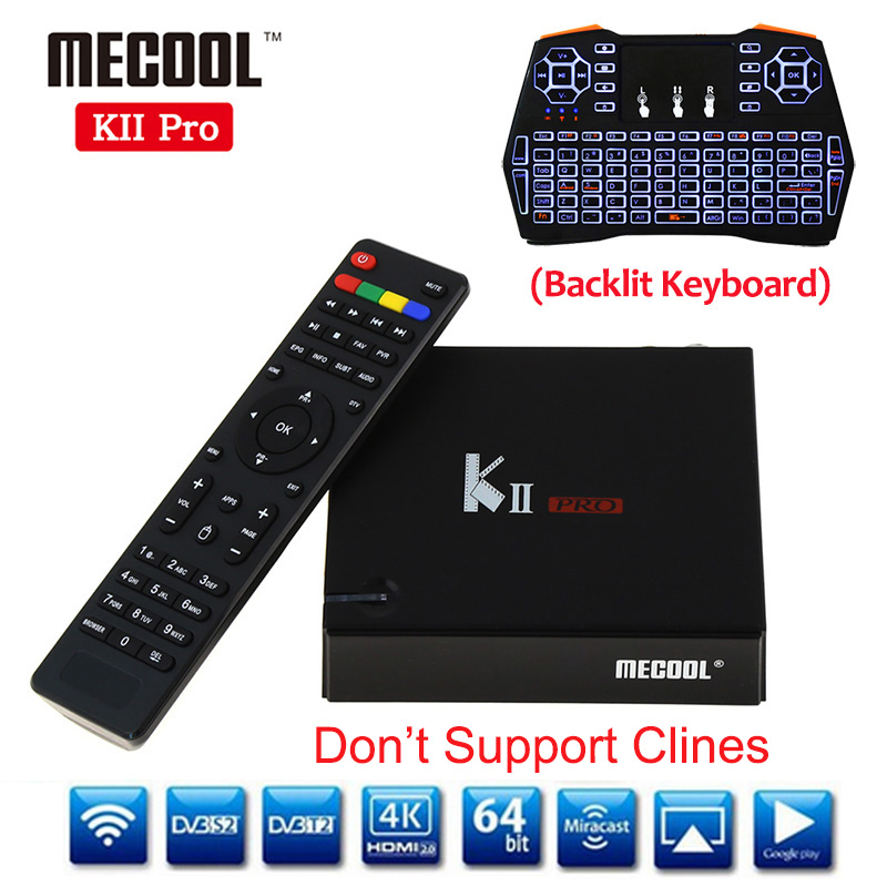 KII Pro DVB-T2 + DVB-S2 Android 5.1 TV Box 2GB/16GB ROM Amlogic S905 Quad-core 4K 2.4G&5G Dual Wifi Bluetooth K2 pro Set Top Box k1 dvb s2 android 4 4 2 amlogic s805 quad core tv box