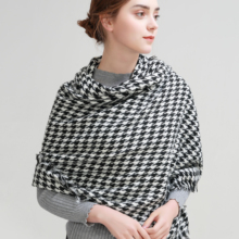 SUMEIKE Warm Winter Women Scarf Female Neck Designer Brand Plaid Shawls Wrap Scarves for women