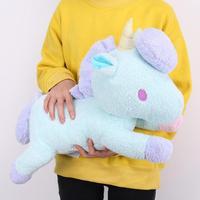 Large 50cm Cute Green Yellow Unicorn Horse Ponny Doll Plush Toy Soft Stuffed unicornio animal Pillow For Kids girl Birthday Gift