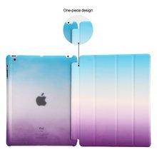 For iPad 2 3 4 Rainbow Color Gradual Intelligent Wake Sleep Smart Case for iPad2 ipad3 ipad4