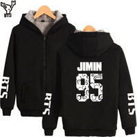 BTS Bangtan Boys Women Hoodies Sweatshirts Zipper Fashion Long Sleeve Winter Coats And Jackets For Women