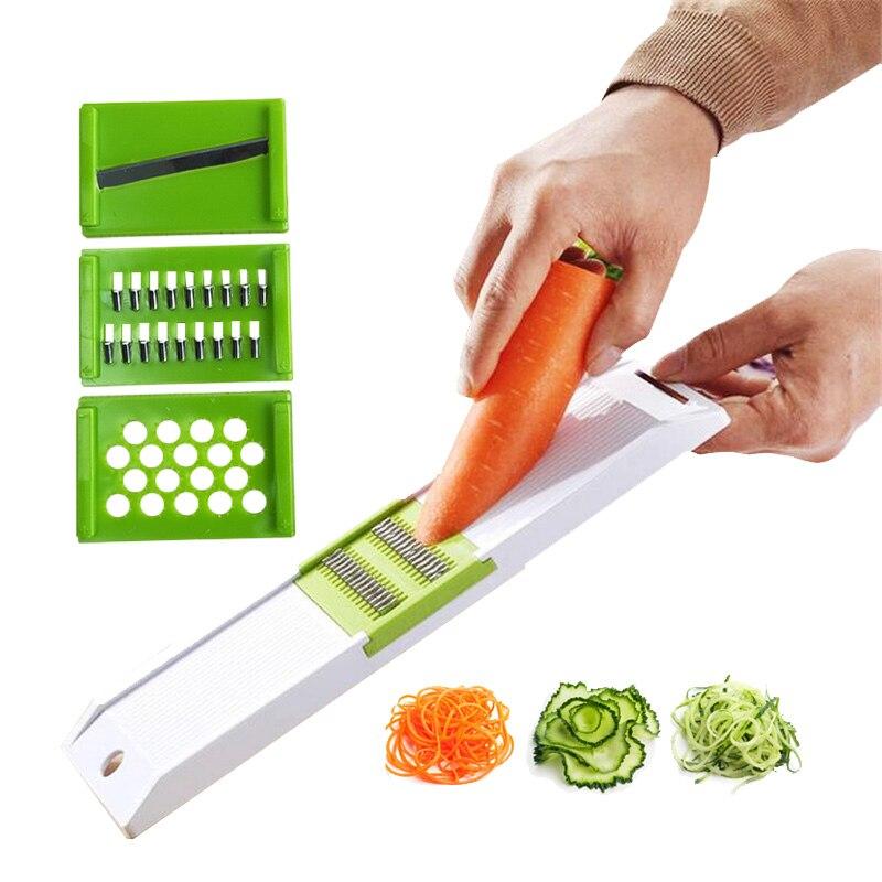 3 лопасти, измельчитель овощей, терка, кухонный аксессуар, умный резак для огурцов, моркови, очиститель фруктов