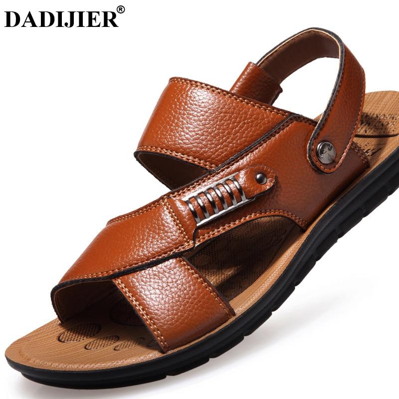 Schuhe Logisch Dadijier 2018 Neue Mode Sommer Männer Flip Flopssandals Männer Leder Schuhe Casual Sandalen Männer Strand Schuhe Design Sandalen Jh197 Männer Sandalen