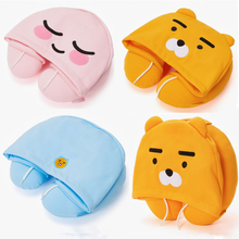 SHINEHENG 2018 Ryan Apeach U Type Plush Pillow with Hat Cocoa Friends Korean Cartoon Doll PP Cotton & Stuffed Toy(China)