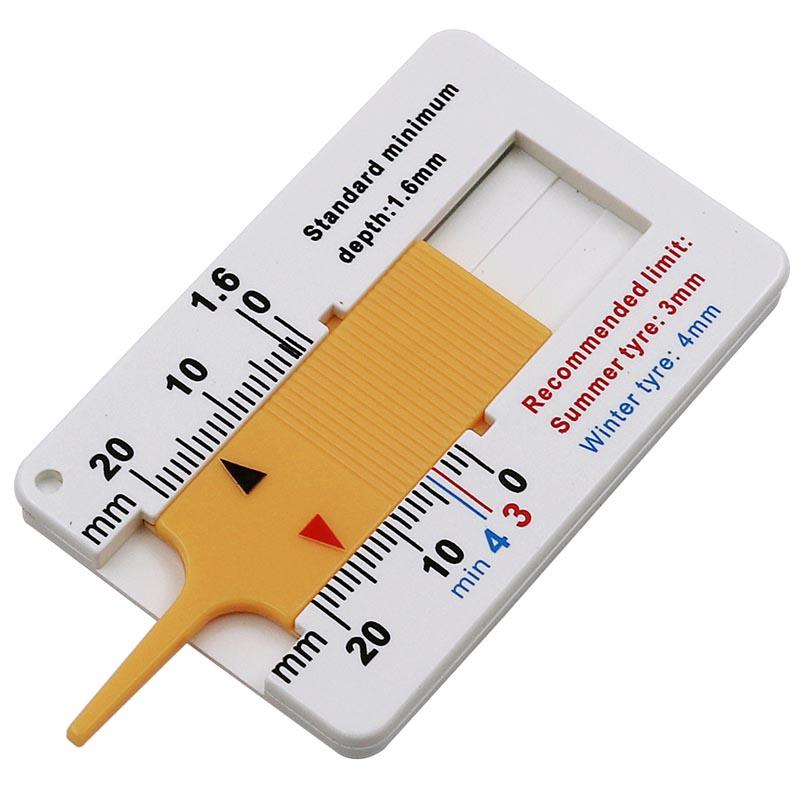 Цифровой автомобильный шиномонтажный измеритель глубины протектора, измеритель, инструмент, штангенциркуль, толщиномер, протекторные тормозные колодки, система мониторинга шин - Цвет: yellow