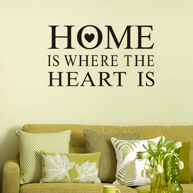 Home Is Where The Heart Is Quote Impressive Home Is Where The Heart Is Quote Wall Sticker Living Room Vinyl