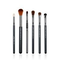 Jessup 6pcs Pro Makeup Brushes Sets Black Silver Beauty Tools Make Up Brushes Kit Pencil Eye