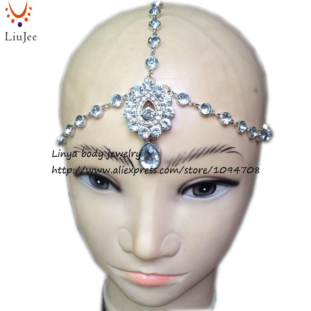 Diamante Kundan Matha Patti Wedding Bridal Goddess Bohemian Boho ...