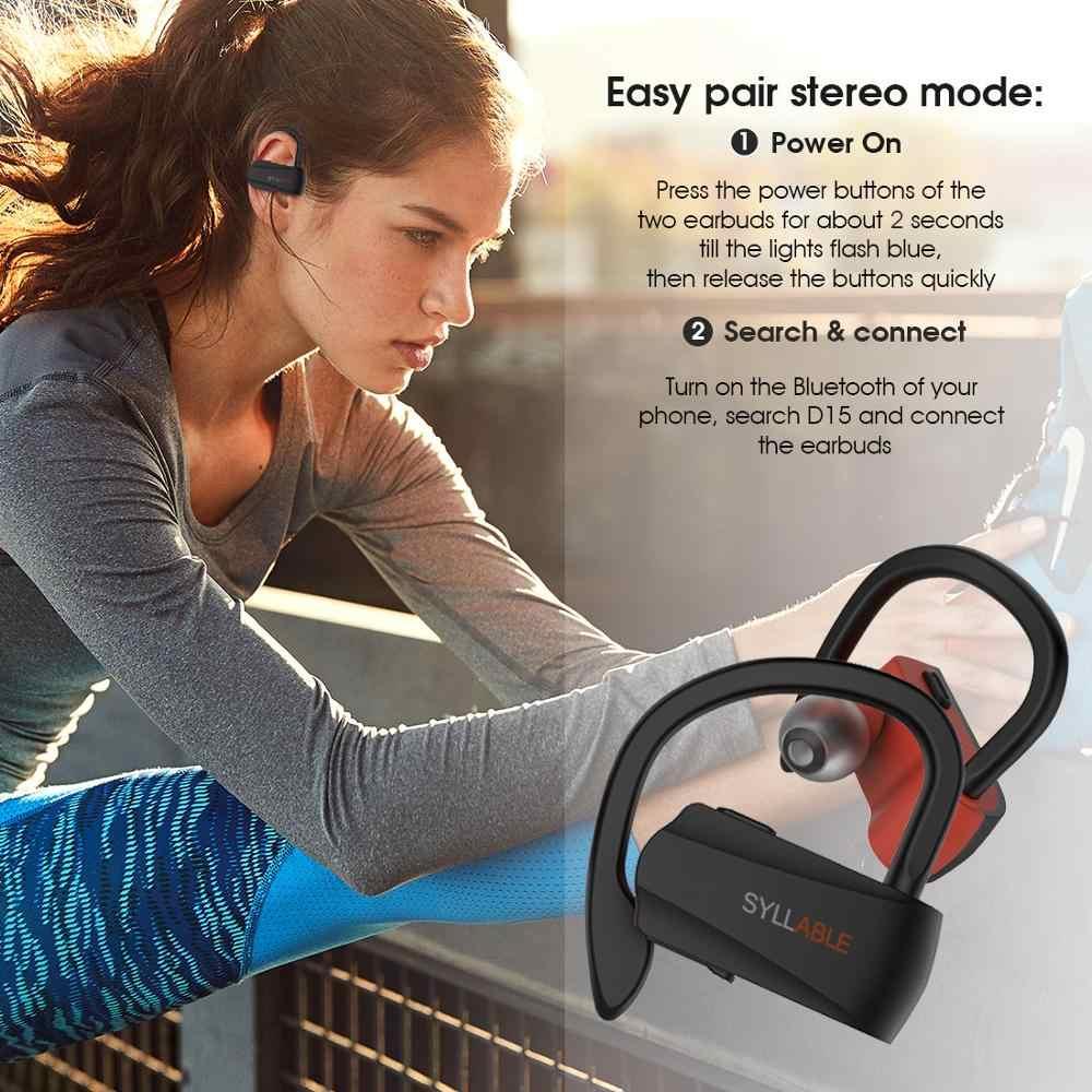Oryginalny sylaba D15 TWS prawda bezprzewodowe słuchawki stereo sportowe słuchawki bluetooth z mikrofonem zestaw słuchawkowy dla androida IOS