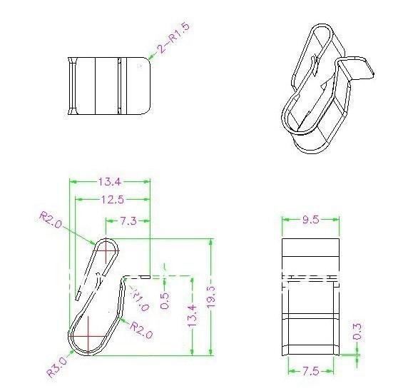 material solar pv fio clipes de cabo, braçadeira solar cabo