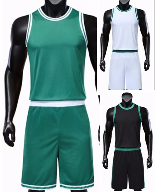 e466a6093f9 Men's blank Sleeveless Basketball sets men basketball jerseys personalized  breathable training vest and shorts running uniforms