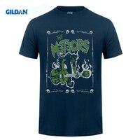 Gildan Noir La Météores Nouveau T-shirt: S-3xl Crâne Démon Royaume-Uni Feu Psychobilly Rock 2017 D'été Hommes de Marque Vêtements T Shirt