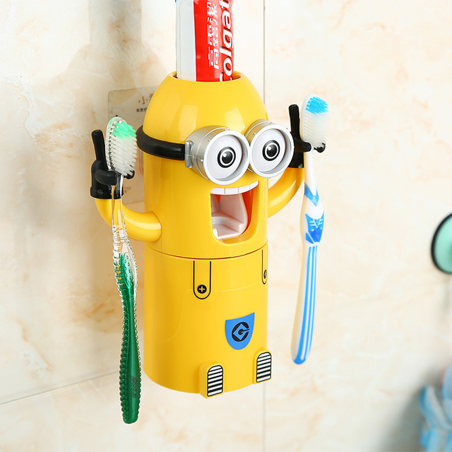 Novelty Products Children S Tooth Cups Creative Bathroom Accessories Set Kids Cute Cartoon Minion Brushing Toothbrush Holder
