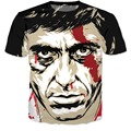 Fashion Summer 3d t shirt harajuku tee shirts Scarface Al Pacino 3d t shirts women/men casual tshirts hip hop tops tees S-XXXL