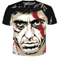 Thời trang Mùa Hè 3d t áo sơ mi harajuku tee áo sơ mi Scarface Al Pacino 3d t sơ mi phụ nữ/men casual áo phông hip hop tops tees CTE-053