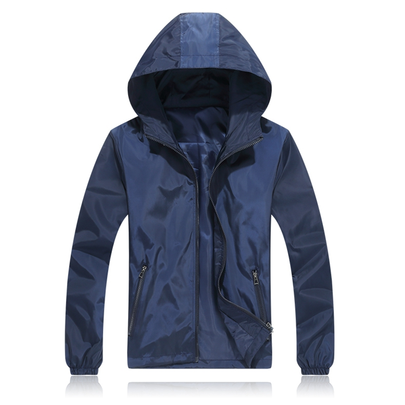Brieuces 2019 Spring Autumn Young Men Windbreaker Hooded Jacket Slim Thin Clothing Top Quality Waterproof Plus Size XS 7XL in Jackets from Men 39 s Clothing