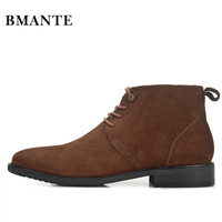 Real Leather Luxury China Designer Casual Brand Male Cow Suede Boot Social Formal chukka Shoe Chelsea Office Footwear for Men de