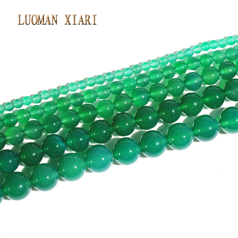 "10MM Green Emerald Round Gemstone Loose Bead 15/""  AAA"