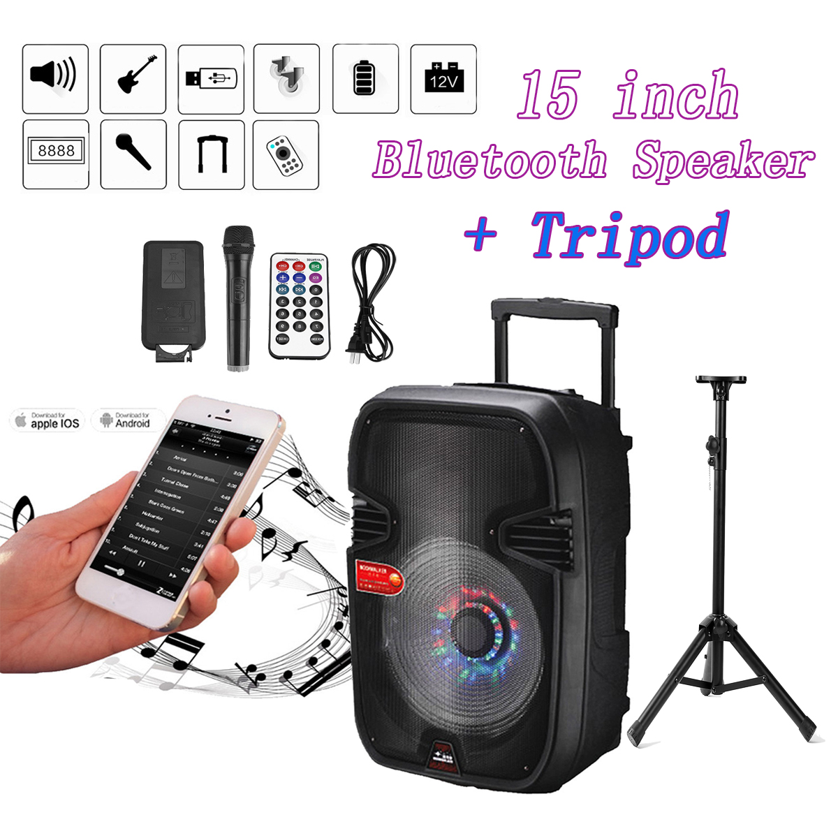 Outdoor Wireless Bluetooth Speaker Portable Stereo Subwoof Speaker Loudspeakers Super Bass Speaker With USB/TF Card outdoor portable bluetooth speaker wireless waterproof bass loud speaker 3d hifi stereo subwoofer support tf card fm radio