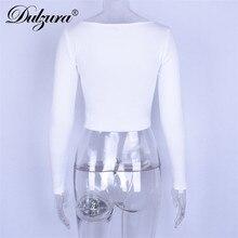 Long Sleeve Button Crop Top AQ01