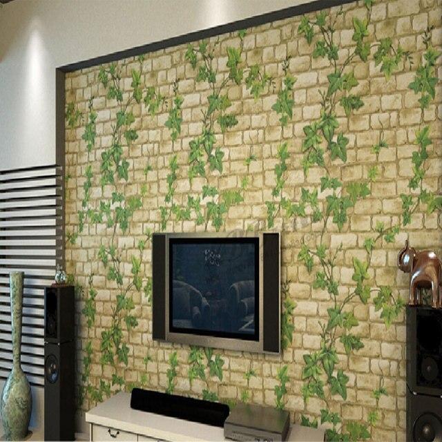 Aliexpress.com : Neue 3D selbstklebende tapeten Blatt stein ziegel ...