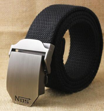 Automatic buckle belt men canvas belt men's casual outdoor canvas belt belt extension of men and male